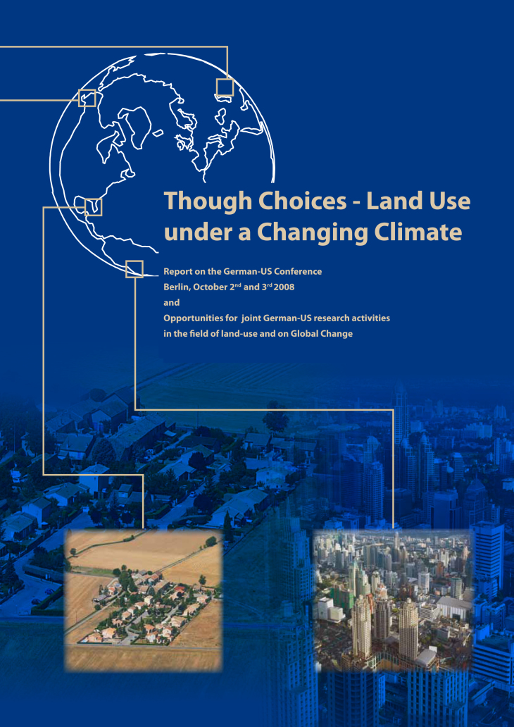 Cover Broschuere land use under changing climate