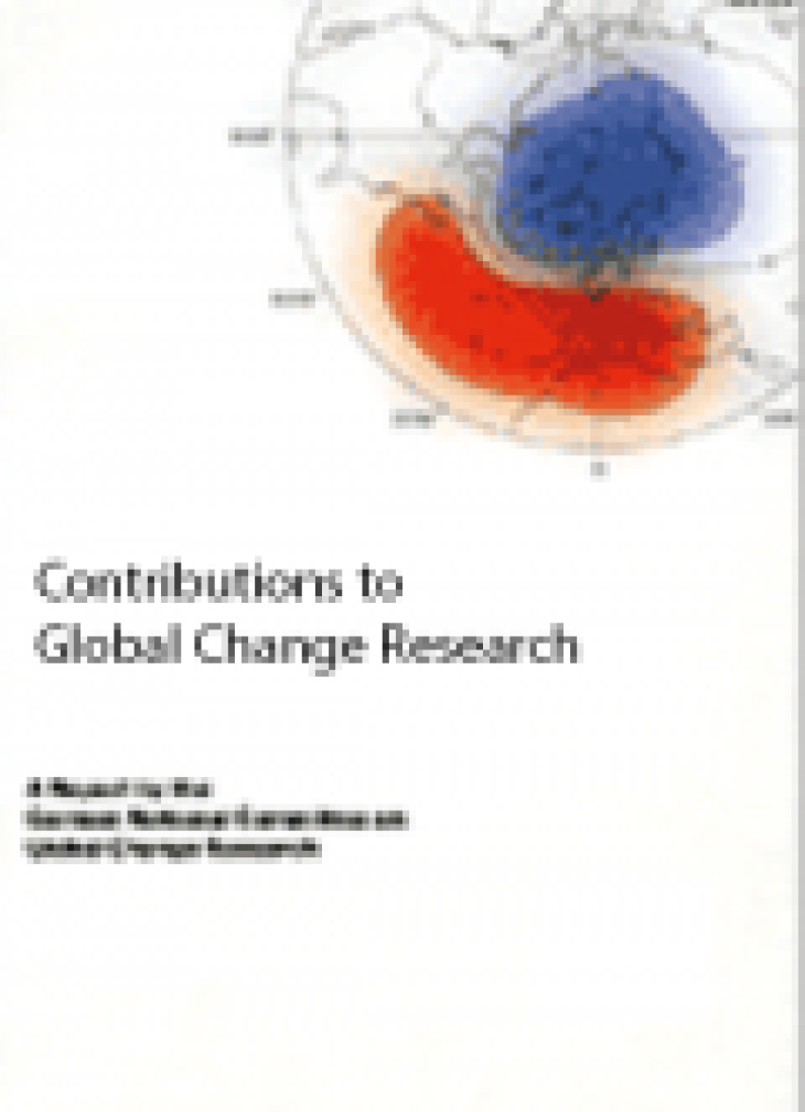 Cover Broschuere Global Change Research in Germany 2001